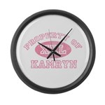 Property of Kamryn Large Wall Clock