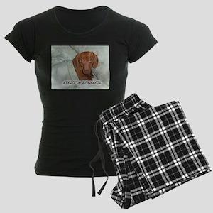 Mornings Dog Women's Dark Pajamas