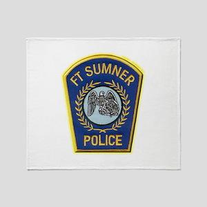 Fort Sumner Police Throw Blanket