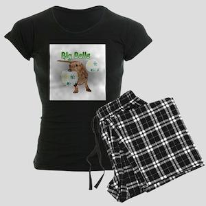 Big Balls Dachshund Dog Women's Dark Pajamas