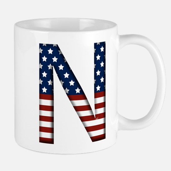 N Stars and Stripes Mug