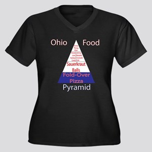 Ohio Food Pyramid Women's Plus Size V-Neck Dark T-