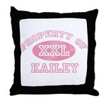 Property of Kailey Throw Pillow