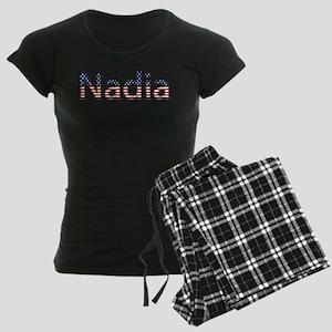 Nadia Stars and Stripes Women's Dark Pajamas