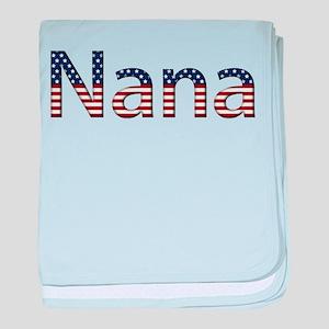 Nana Stars and Stripes baby blanket