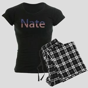 Nate Stars and Stripes Women's Dark Pajamas