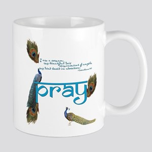 Peacock Prayer Mug