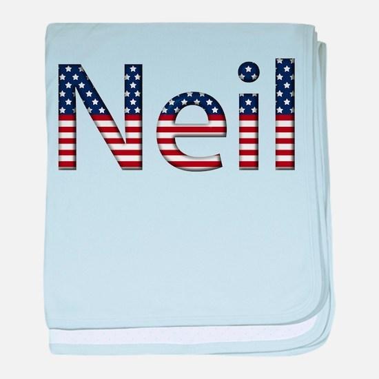Neil Stars and Stripes baby blanket