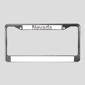 Nevada Stars and Stripes License Plate Frame