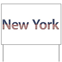 New York Stars and Stripes Yard Sign