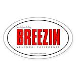 Breezin Surfboards Oval Sticker