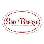 Sea Breeze SurfboardsOval Sticker