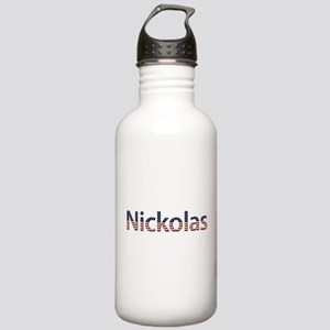 Nickolas Stars and Stripes Stainless Water Bottle