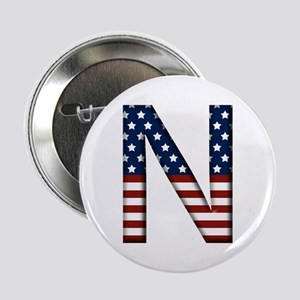 N Stars and Stripes Button
