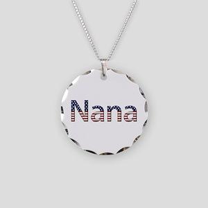 Nana Stars and Stripes Necklace Circle Charm