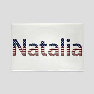 Natalia Stars and Stripes Rectangle Magnet