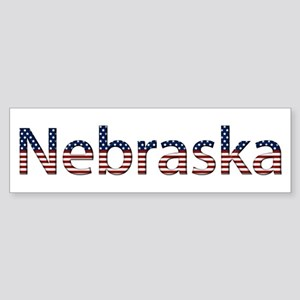 Nebraska Stars and Stripes Bumper Sticker