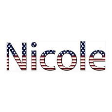 Nicole Stars and Stripes 42x14 Wall Peel