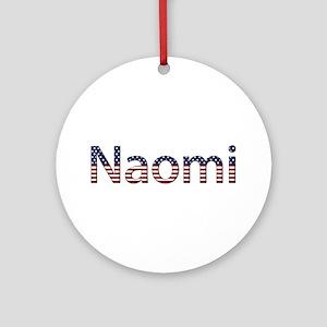 Naomi Stars and Stripes Round Ornament