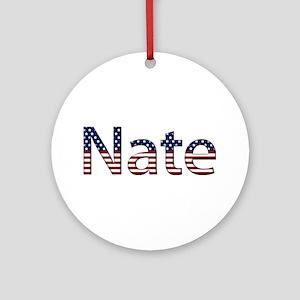 Nate Stars and Stripes Round Ornament