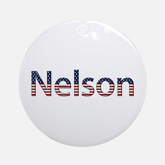 Nelson Stars and Stripes Round Ornament
