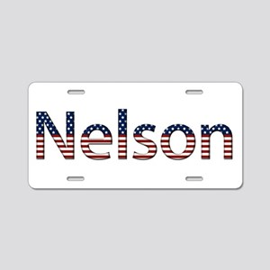 Nelson Stars and Stripes Aluminum License Plate