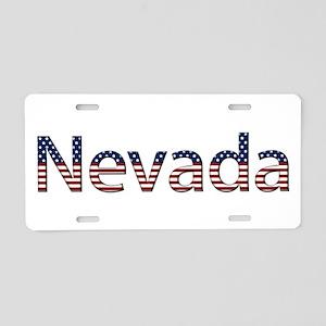 Nevada Stars and Stripes Aluminum License Plate