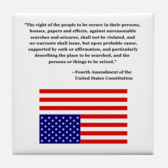 4th Amendment & Upside Down Flag Tile Coaster