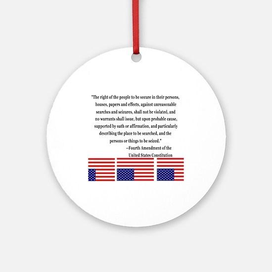 4th Amendment & Upside Down Flag Ornament (Round)
