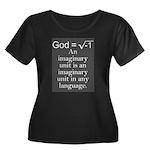 Atheism Women's Plus Size Scoop Neck Dark T-Shirt
