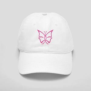 Pink Ribbon Butterfly Cap