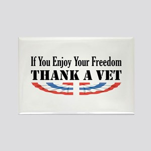 Thank a Vet Rectangle Magnet