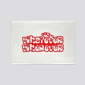 Whatever Whenever 01_Red Rectangle Magnet