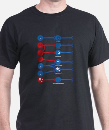 The Many Moods of a Neuron T-Shirt