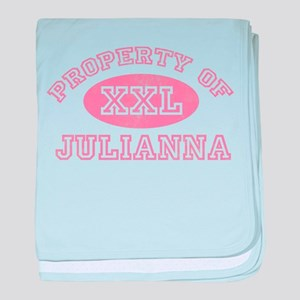 Property of Julianna baby blanket
