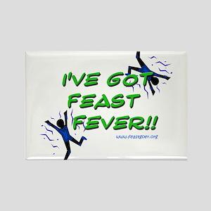 Feast Fever Rectangle Magnet