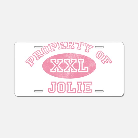 Property of Jolie Aluminum License Plate
