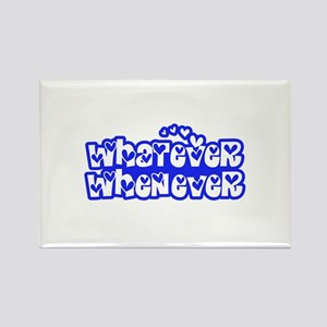 Whatever Whenever 01_Blue Rectangle Magnet