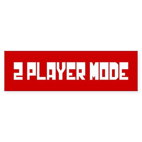 2 PLAYER MODE Sticker (Bumper)