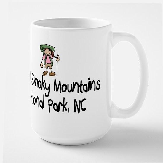 Hike Smoky Mtns, NC (Girl) Large Mug
