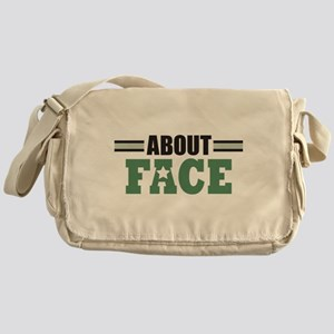 About Face Military Messenger Bag