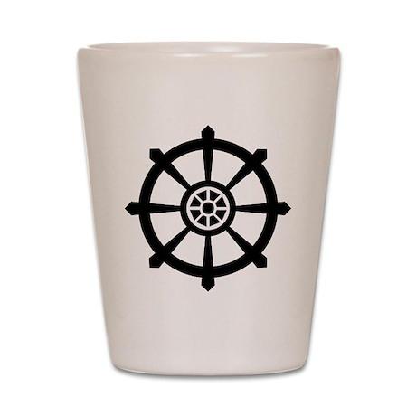 Dharma Wheel Shot Glass