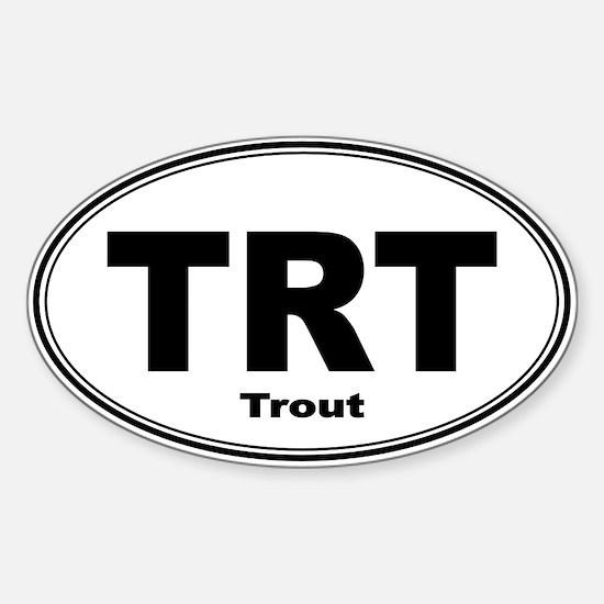 Trout Sticker (Oval)