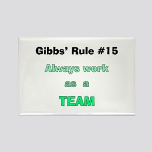NCIS Gibbs' Rule #15 Rectangle Magnet