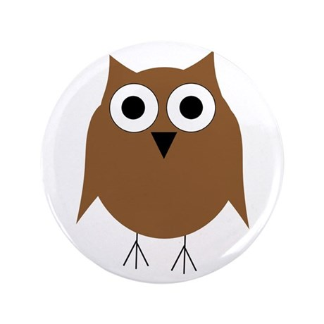 """Brown Owl 3.5"""" Button (100 pack)"""
