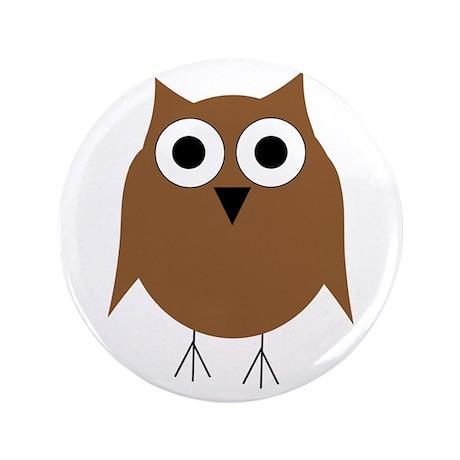 "Brown Owl 3.5"" Button"