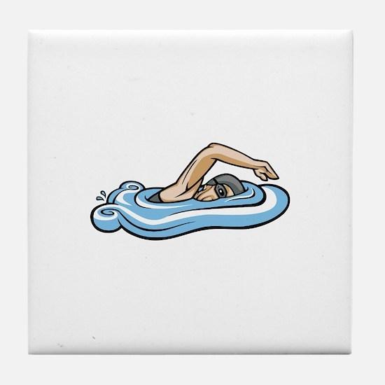 Unique Breast stroke Tile Coaster