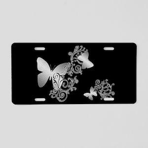 Butterfly Fantasy 2 Dark Aluminum License Plate
