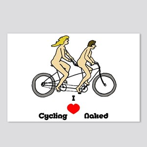 I Love Cycling Naked Postcards (Package of 8)