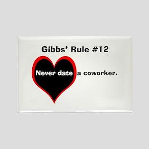 NCIS Gibbs' #12 Rectangle Magnet